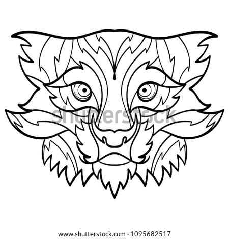 Bobcat Head Tattoo Stock Vector Royalty Free 1095682517