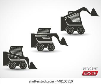 bobcat icons / vehicle machine / vector illustration