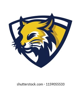 bobcat/lynx esport gaming mascot logo template