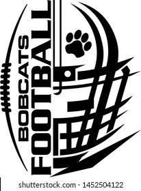 bobcats football team design with half helmet and facemask for school, college or league