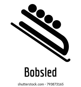 Bobsled icon. Simple illustration of bobsled vector icon for web.