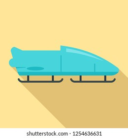 Bobsleigh icon. Flat illustration of bobsleigh vector icon for web design
