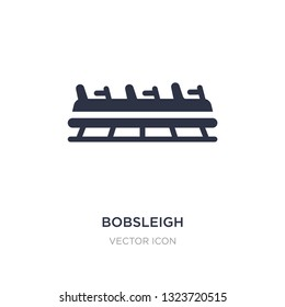 bobsleigh icon on white background. Simple element illustration from Transport concept. bobsleigh sign icon symbol design.