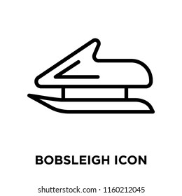 Bobsleigh icon vector isolated on white background, Bobsleigh transparent sign , linear symbol and stroke design elements in outline style