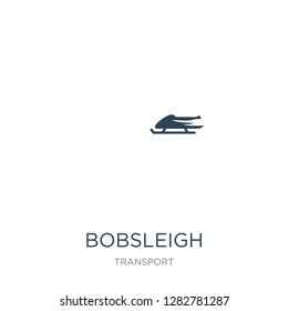 bobsleigh icon vector on white background, bobsleigh trendy filled icons from Transport collection, bobsleigh vector illustration