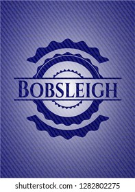 Bobsleigh jean or denim emblem or badge background