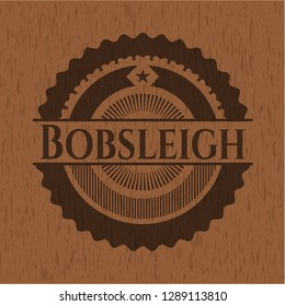 Bobsleigh retro wood emblem