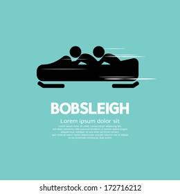 Bobsleigh Vector Illustration