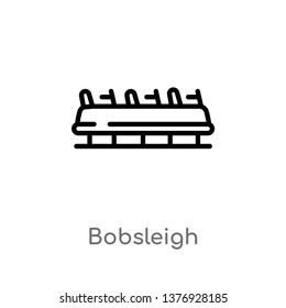 bobsleigh vector line icon. Simple element illustration. bobsleigh outline icon from transport concept. Can be used for web and mobile