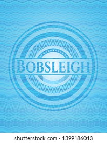 Bobsleigh water representation style badge. Vector Illustration. Detailed.