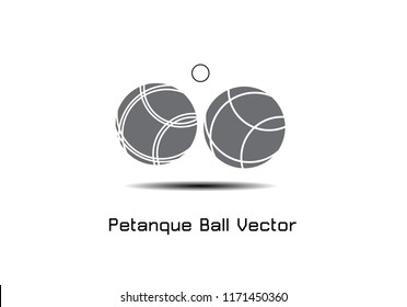 Bocce Ball Set Icon - Petanque Vector  illustration EPS 10.