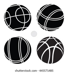 Bocce Ball Set Icon -  Petanque Vector