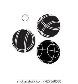 Bocce Balls flat Icon - Vector
