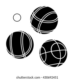 Bocce Balls flat Icon - white background