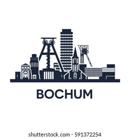 Bochum City Skyline, Germany