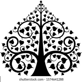 The Bodhi tree pattern style