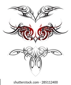 Body art wings tattoo set