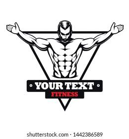 Body building fitness Vector logo templete