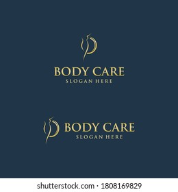 Body care luxurious logo design vector illustration