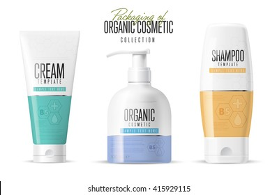 Body care products. Brand concept of organic cosmetics.