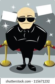 A body guard at award night