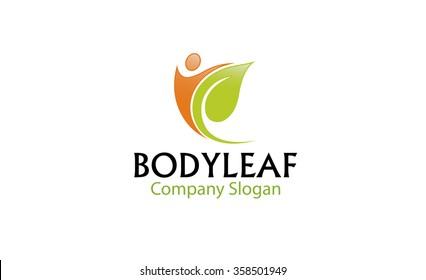 Body Leaf Logo Symbol Design Illustration