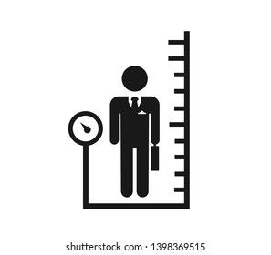 body mass index base icon. Simple sign illustration. body mass index symbol design. Can be used for web, print and mobile