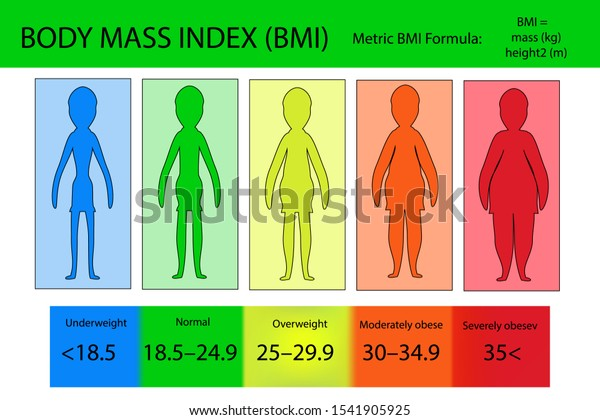 Body Mass Index Vector Underweight Extremely Stock Vector Royalty Free 1541905925