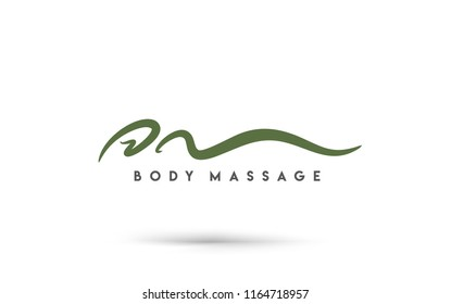 Body massage logo template. Business concept. Human abstract. Vector icon.