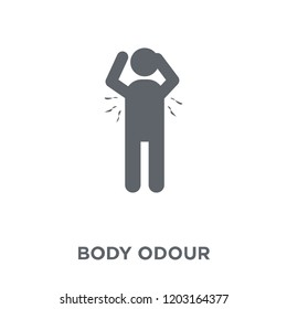 body odour icon. body odour design concept from Hygiene collection. Simple element vector illustration on white background.