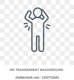body odour icon. body odour design concept from Hygiene collection. Simple element vector illustration on transparent background.