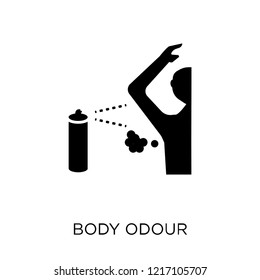 body odour icon. body odour symbol design from Hygiene collection. Simple element vector illustration on white background.