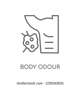 body odour linear icon. Modern outline body odour logo concept on white background from Hygiene collection. Suitable for use on web apps, mobile apps and print media.