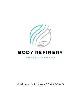 body refinery hand care circle logo vector icon