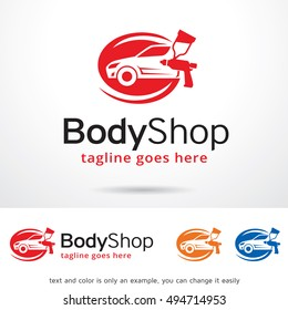 Body Shop Logo Template Design Vector