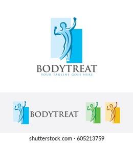 Body Treat, Vector logo template
