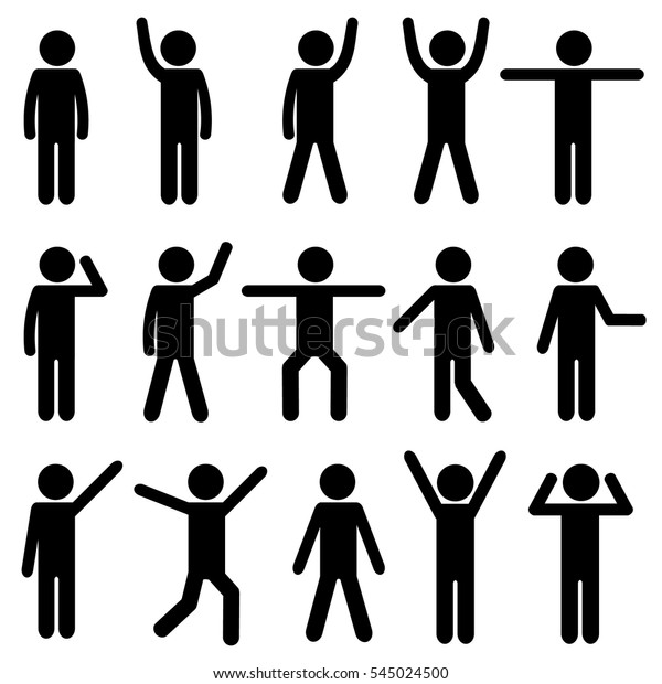 Body Workout Exercise Stick Figure Pictogram Stock Vector Royalty Free 545024500