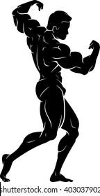 Bodybuilder Back Flexing