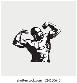 Bodybuilder Logos Templates