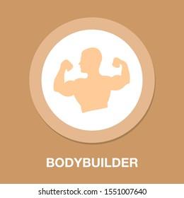 bodybuilder. Weightlifting sport vector icon. filled flat sign for mobile concept and web design. Weightlifter sportsman bodybuilder glyph icon. Symbol, bodybuilder logo illustration