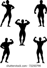 bodybuilders collection vector