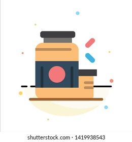 Bodybuilding, Gainer, Protein, Sports, Supplement Abstract Flat Color Icon Template