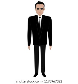 Bodyguard Vector Character Illustration
