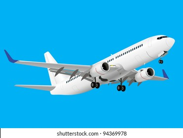 Boeing 737 detailed vector image