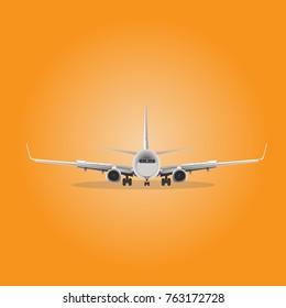 Boeing 737 landing Vector