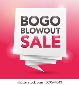 BOGO BLOWOUT SALE, poster design element