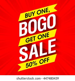 Bogo Sale banner design template