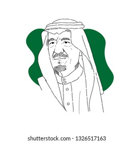 Bogor Indonesia, march 01 2019: king salman, saudi arabic king