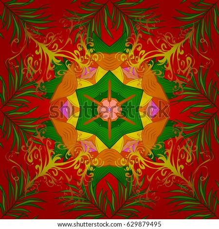 Bohemian Decorative Element Indian Henna Design Stock Vector