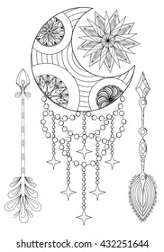 Adult Coloring Pages Sun Moon Images, Stock Photos & Vectors ... | 280x182